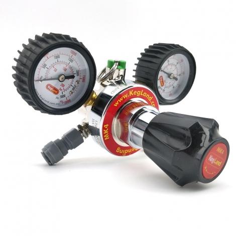 CO2 Gas Regulator MK4 Dual Gauge Multi Gas - Type 30 (includes 8mm x FFL duotight)