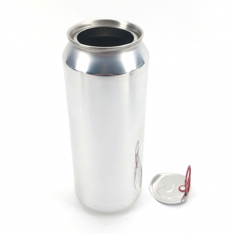 Beer Can Silver Skin with lid