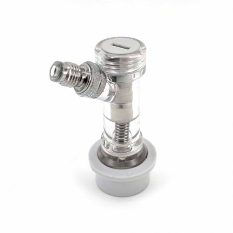 Premium Ball Lock Disconnect MFL (Grey/Gas) - With Integrated Check Valve