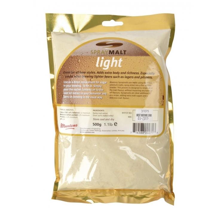 Spraymalt Muntons light 12 EBC 500 g