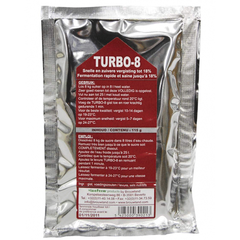 Turbo-8 yeast