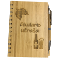Aludario užrašų knygutė bambukiniais viršeliais