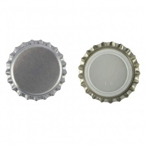 Silver Cap 26mm, 100 pcs