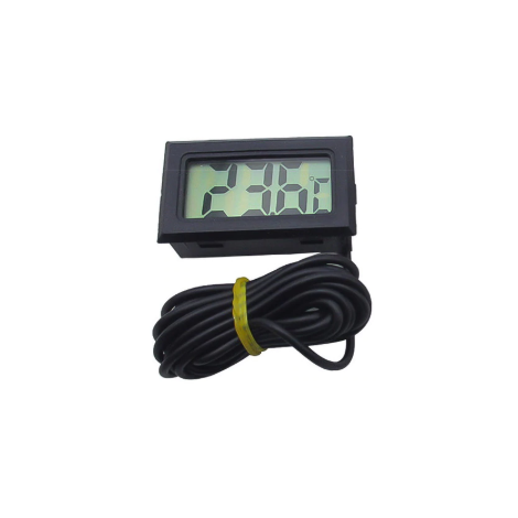 Built-in thermometer with cable